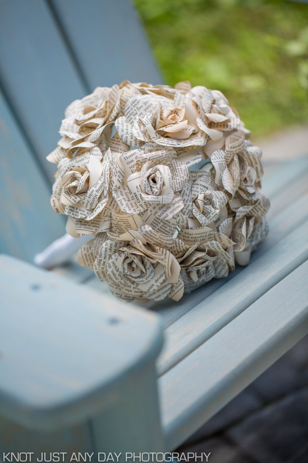 Bridal Bouquet Made Out Of Vintage Book Pages Library Theme