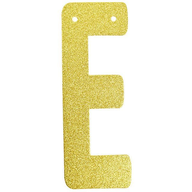 1pc only personalized hanging glitter gold paper letter number