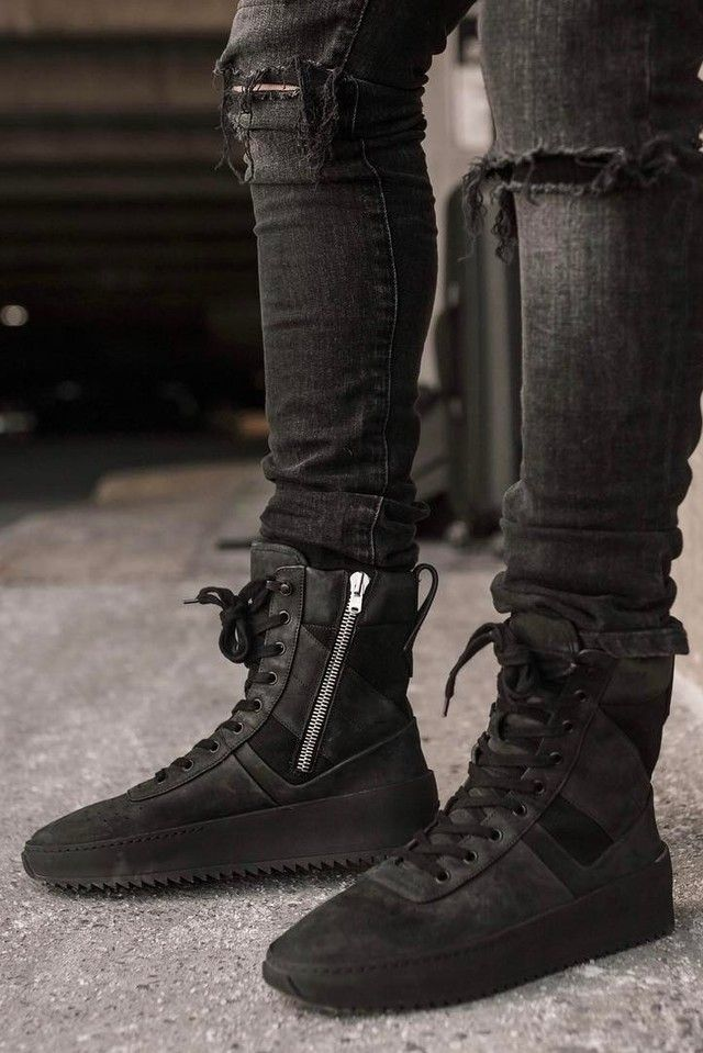 e2e5d9064233 Luce wearing Fear of God Military Sneakers