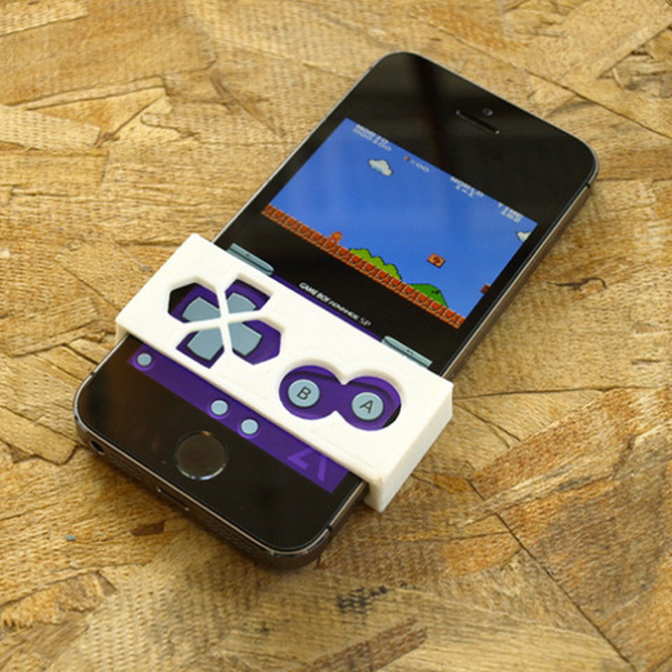 Gameboy button faceplant by 3D Brooklyn