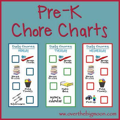 Pre-K Chore Charts