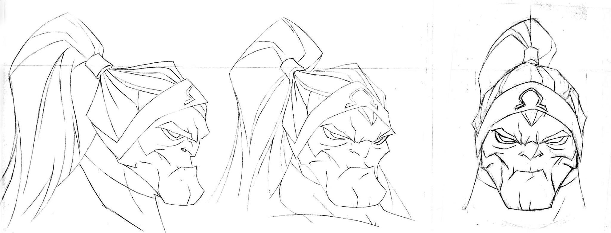 Omega Red head detail and turn by Jeff Matsuda for Wolverine vs. Hulk