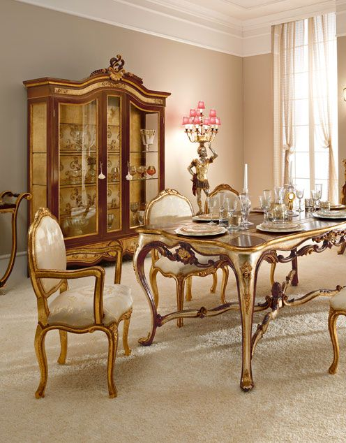 Luxury Dining Room Furniture: Italian Luxury Dining Room Wood Furniture. Andrea Fanfani
