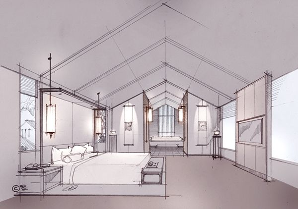 On behance rendering sketches pinterest for Studium interior design