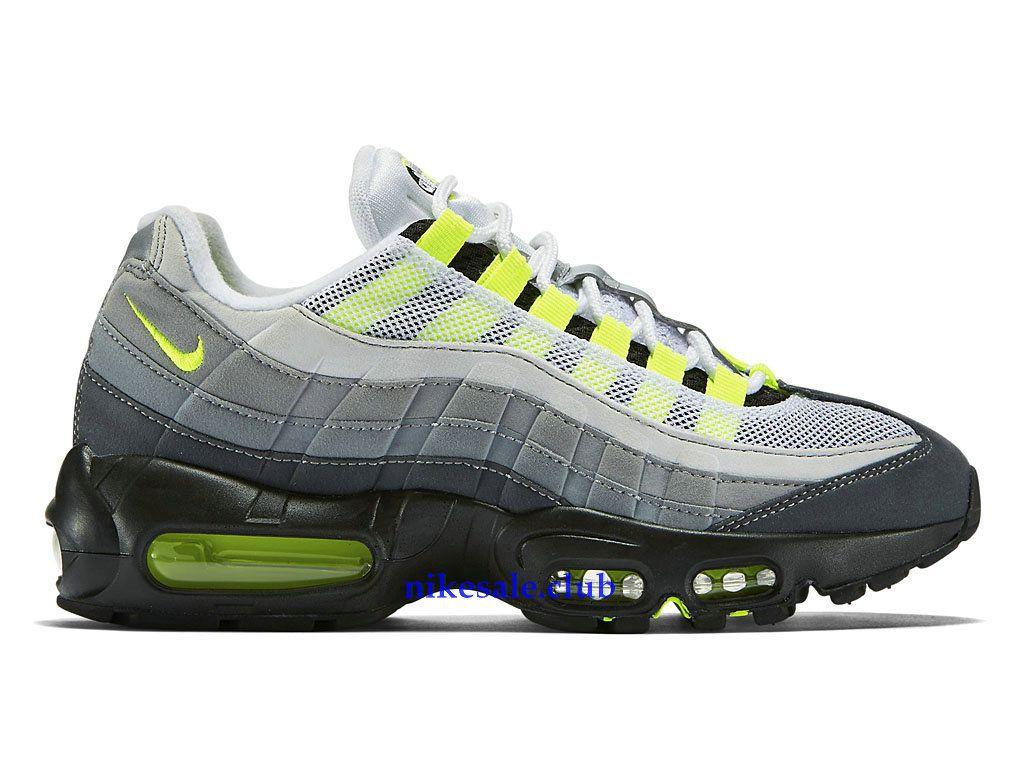 huge discount 6d291 c1d79 Chaussures Nike Air Max 95 OG Prix Femme Sale Pas Cher Noir Gris Vert Blanc  307960-002