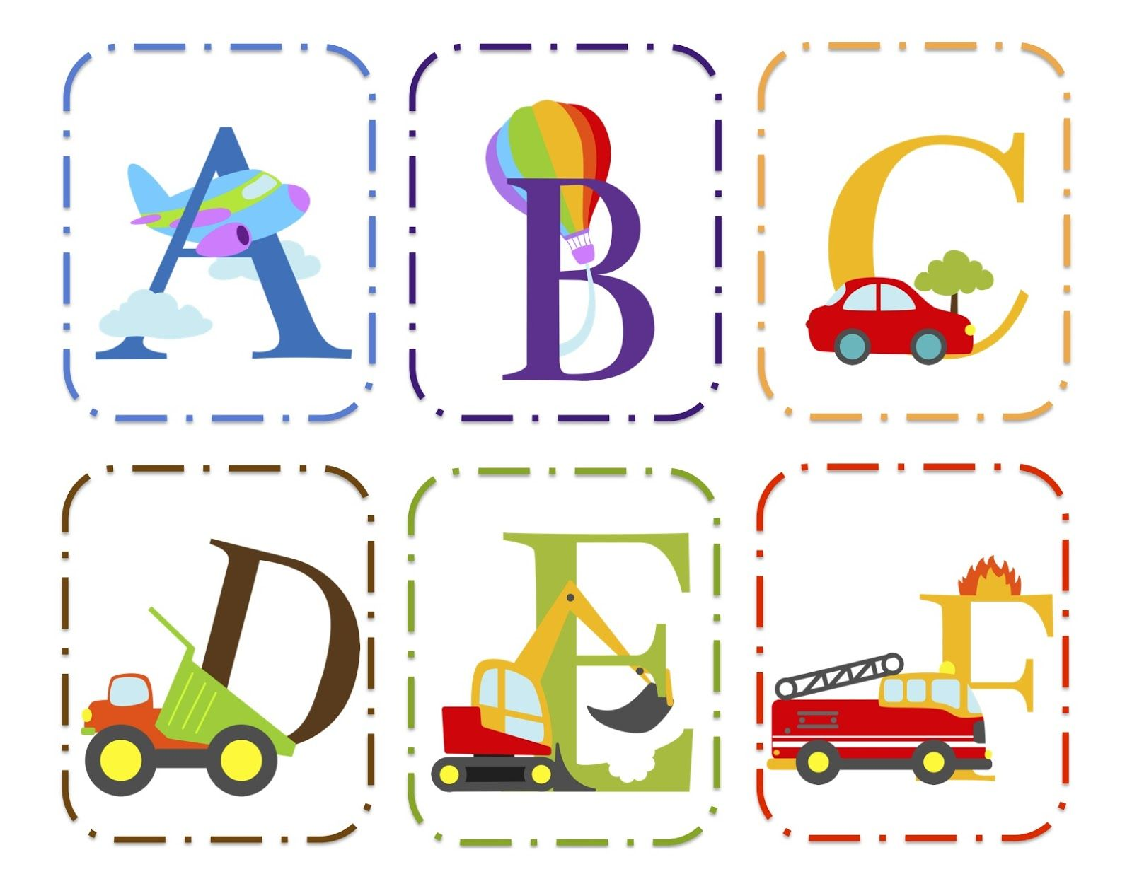 Transportation Alphabet Cards Upper & Lower
