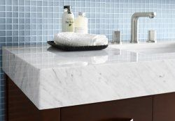 The Latest Trend In Bathroom Vanities Is Extra Thick Counter Tops