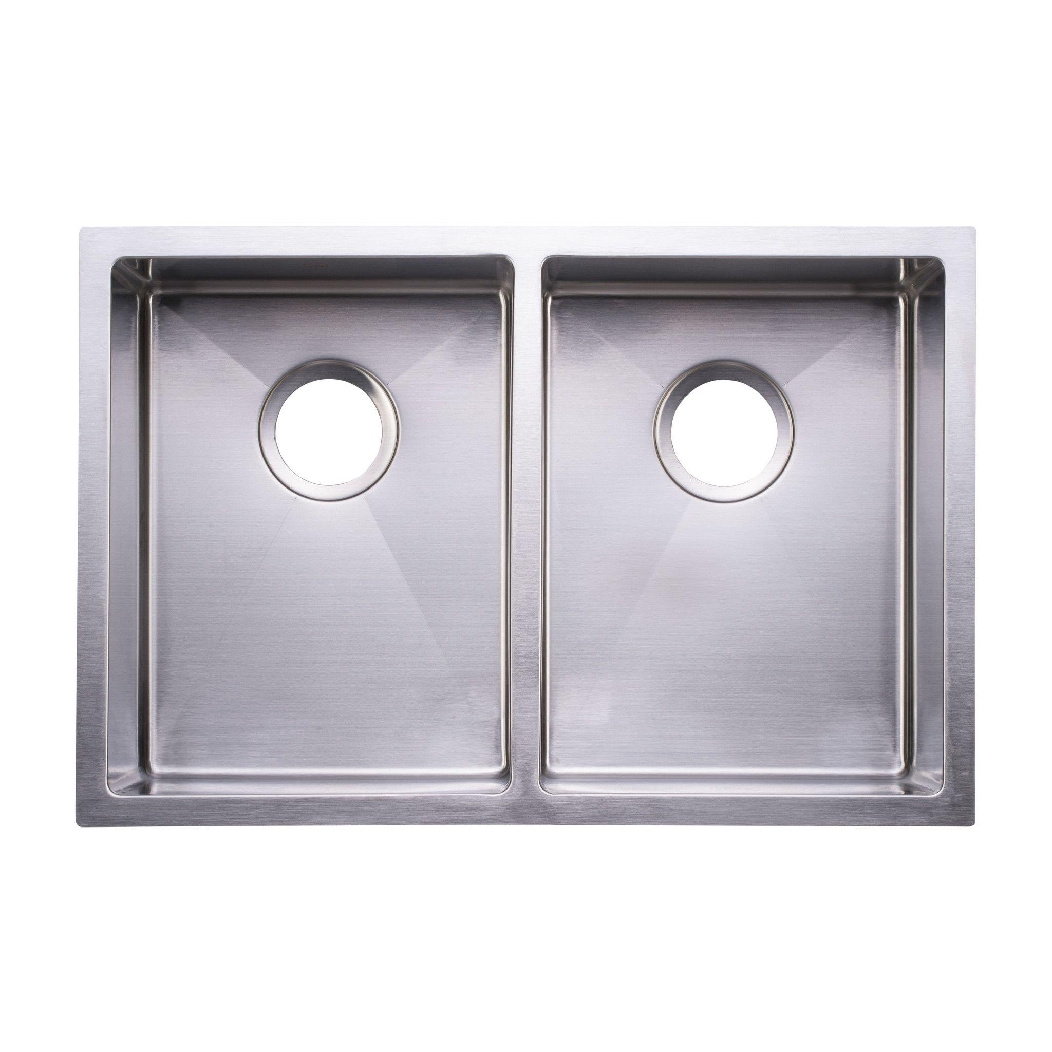 Bai 1224 Stainless Steel 16 Gauge Kitchen Sink Handmade 27 Inch