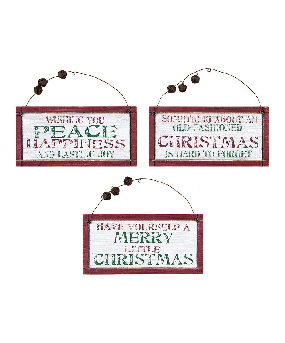 Look at this Jingle Bell Christmas Sign - Set of Three on #zulily ...