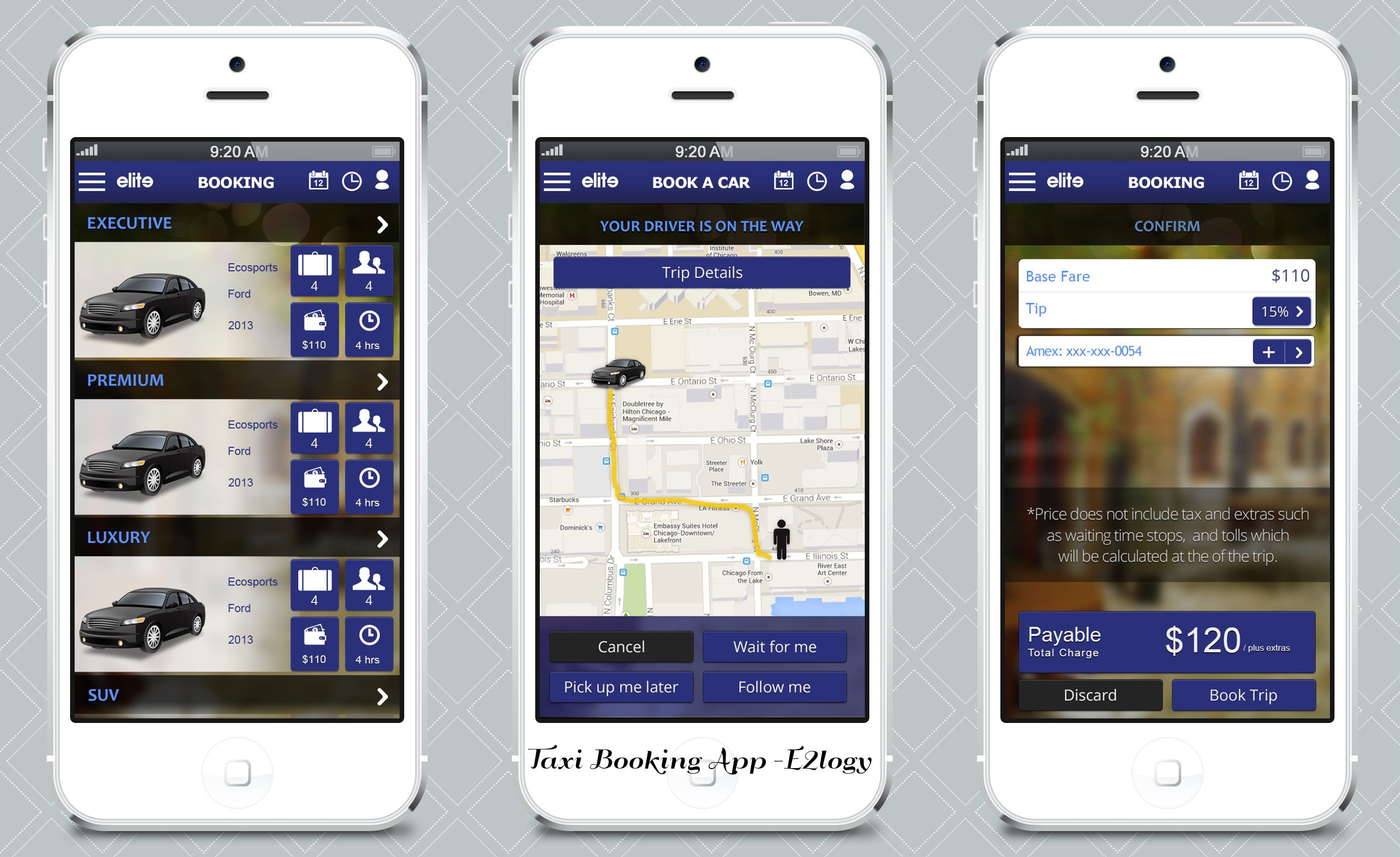 Taxi Booking App by E2logy. Web application development