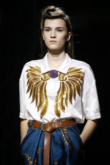 Dries van Noten#RTW Spring Summer 2016#lovely printed blouse!
