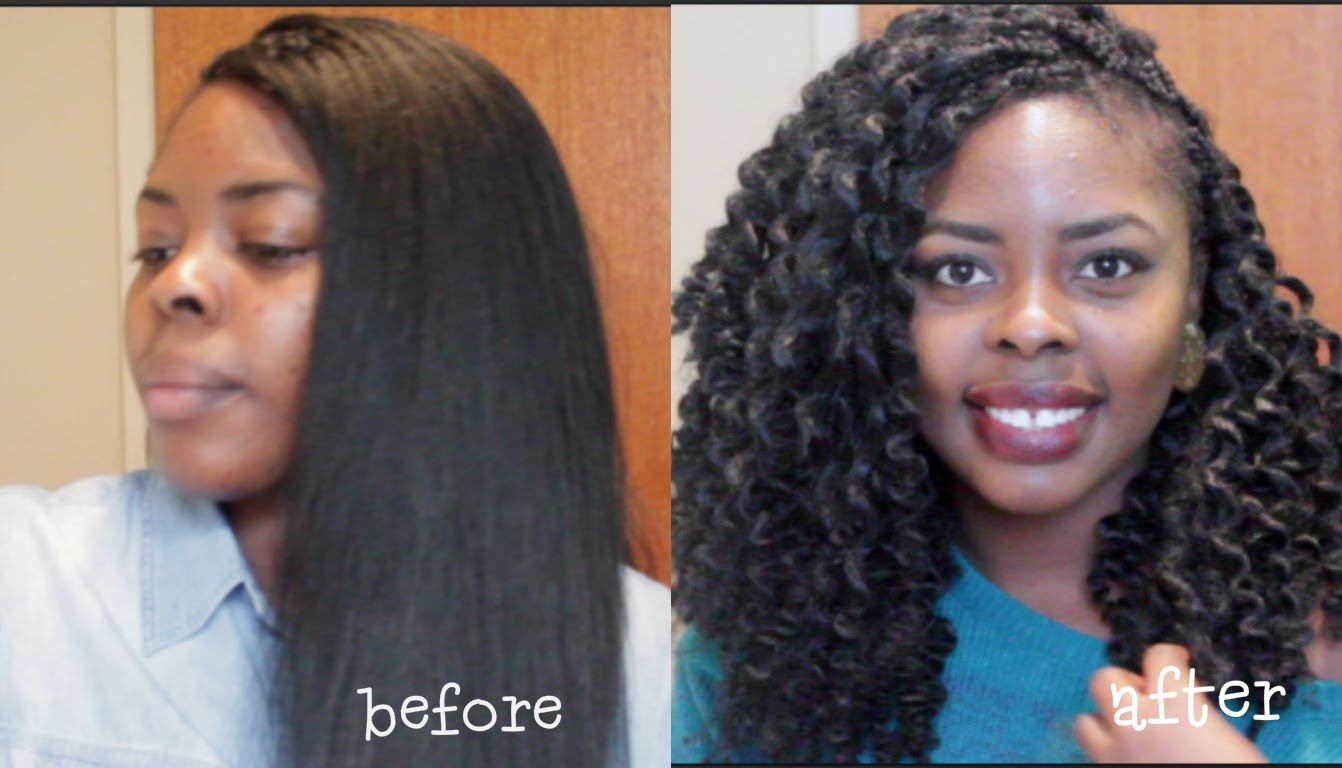 How To Curl Synthetic Hair Using Thread Crochet Braids Addicted