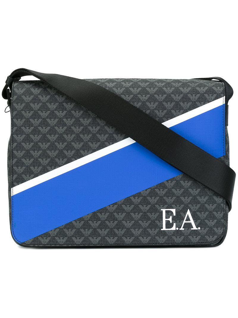 Emporio Armani colour block messenger bag 0519ffb9022ec