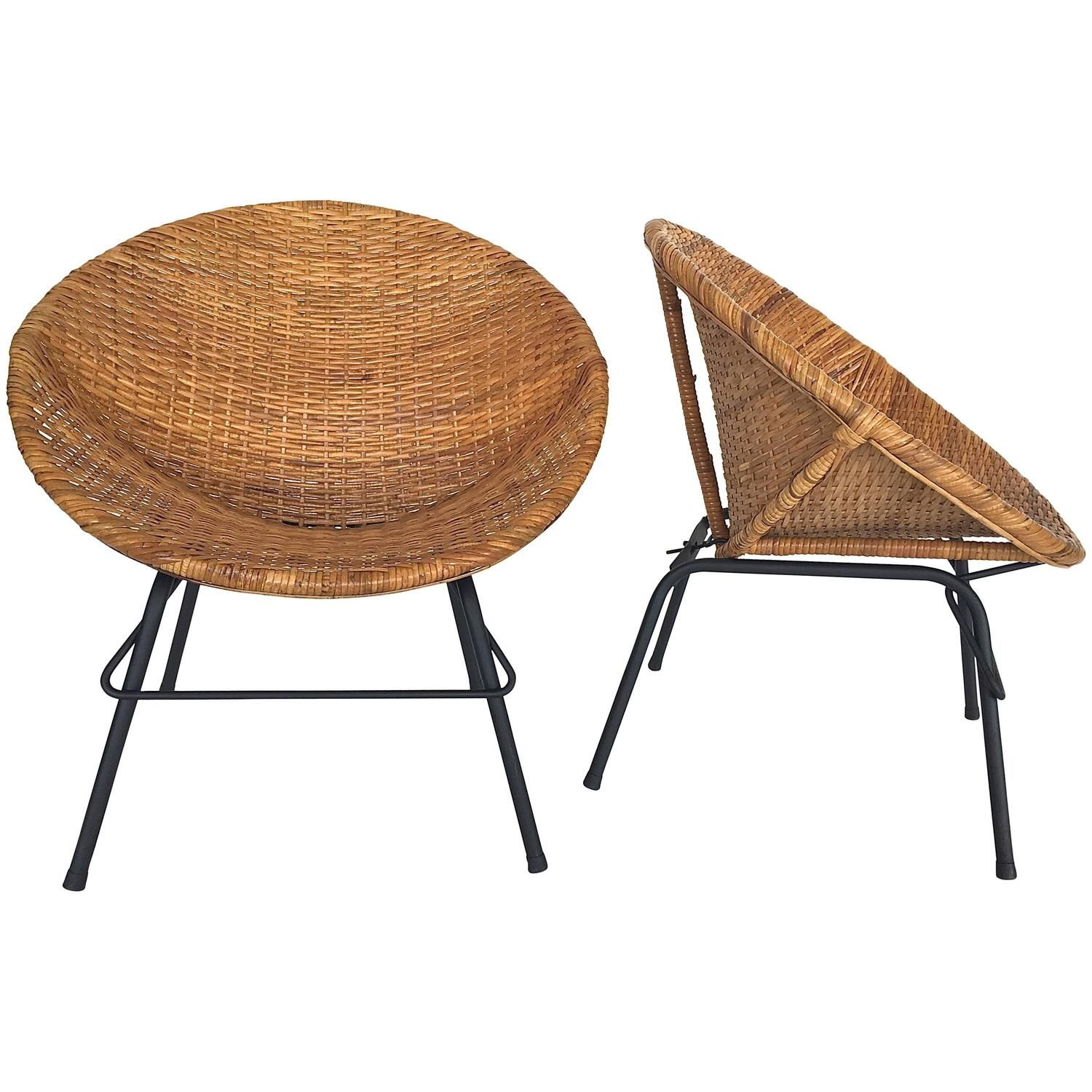 wicker and iron scoop bucket chairs | bucket chairs and iron