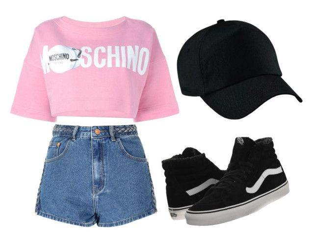 """Moschino"" by geosoares ❤ liked on Polyvore featuring Glamorous, Moschino and Vans"