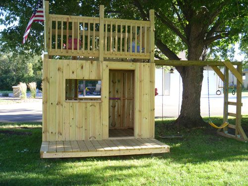 Build a clubhouse with 2 levels and monkey bars   Kids ...