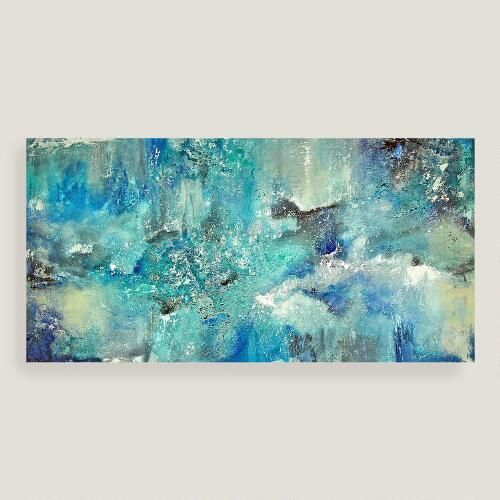 Dreamin in blue canvas wall art world market