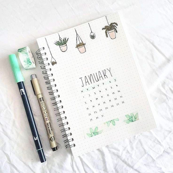 13 Bullet Journal Calendar Layout Ideas — Sweet PlanIt #bulletjournaljanvier