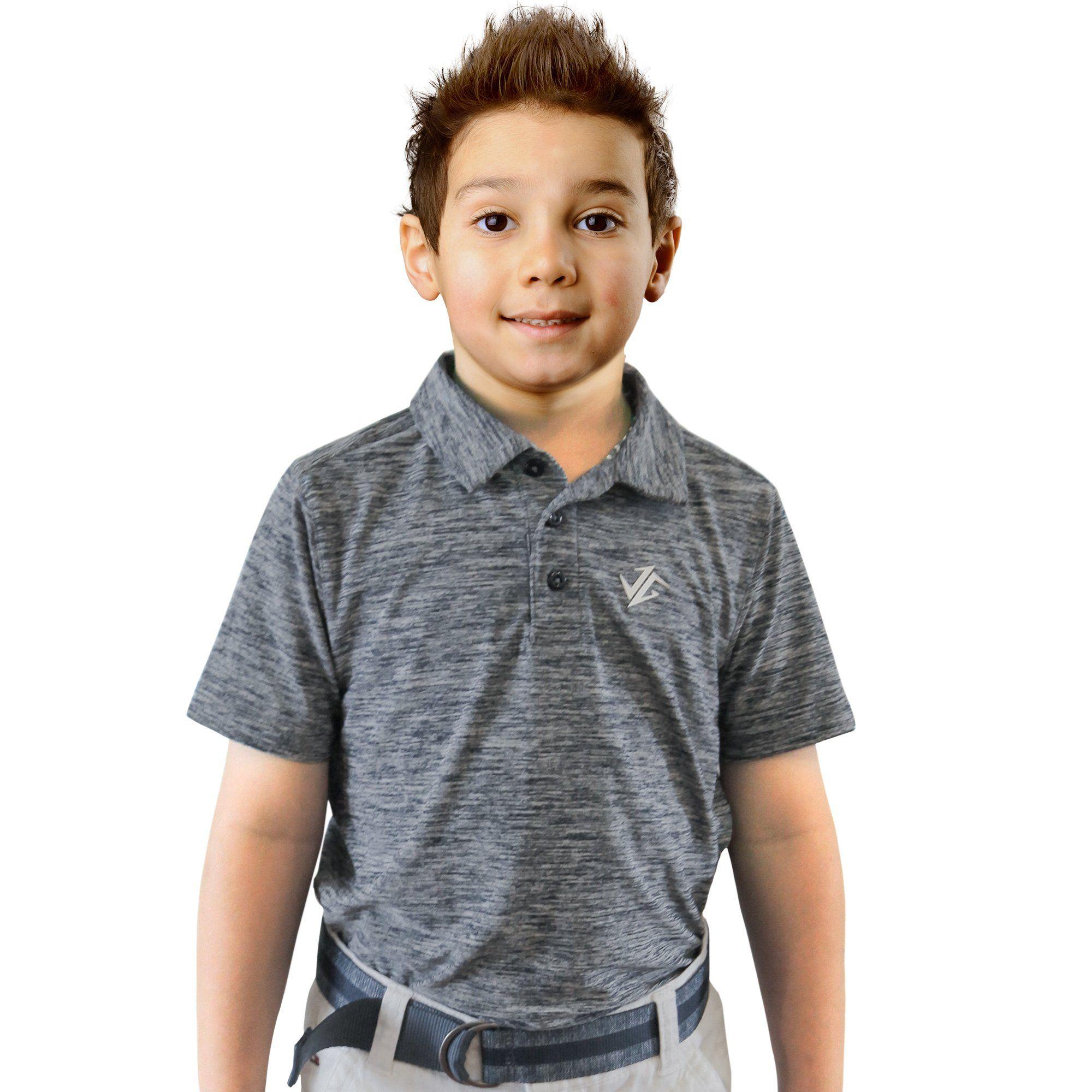 Jolt gear youth boys golf dri fit polo shirt breathable