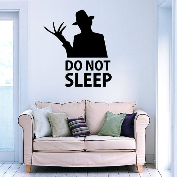 Freddy krueger wall decal vinyl wall art by madmonkeydecals €20 00