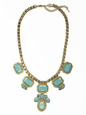 Jolie Mint Necklace at Le Mode Accessories - Just $26.50!