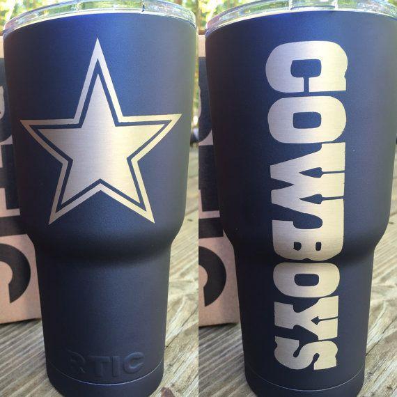 CowboysPowderCoatStainlessTumblerNoVinyl