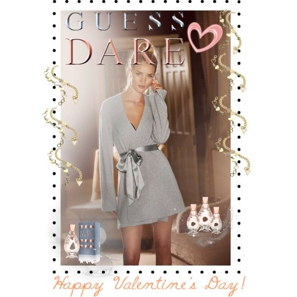 """Heat Up Your Valentine's Day with GUESS DARE: Contest Entry"" by diaparsons on Polyvore"