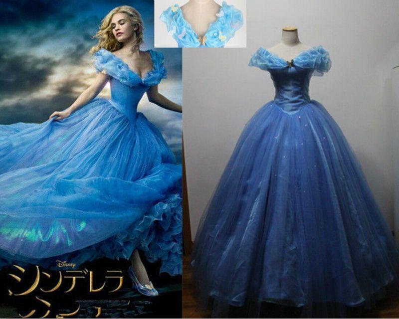 5f30e21b049e1 Pas cher Nouvelle sable princesse cendrillon femmes bleu robe Cosplay  Costume Hot vente