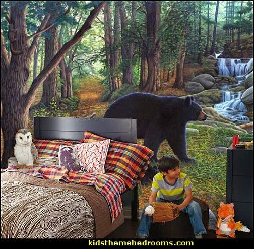 Woodland Bedroom Decor Forest Theme Decorating Ideas