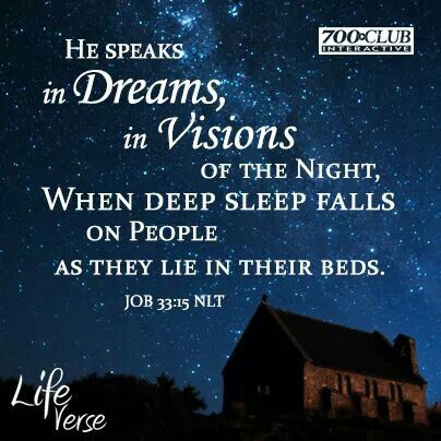 God Speaks in Dreams | Draw close | Job 33, Good night all