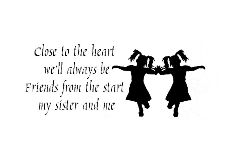 Free Twin Sisters Funny Pic Wall Sticker Decal Quote Vinyl Twins Fascinating I Love My Twin Sister Quotes