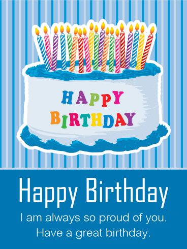 Happy Birthday Cards For My Son Facebook