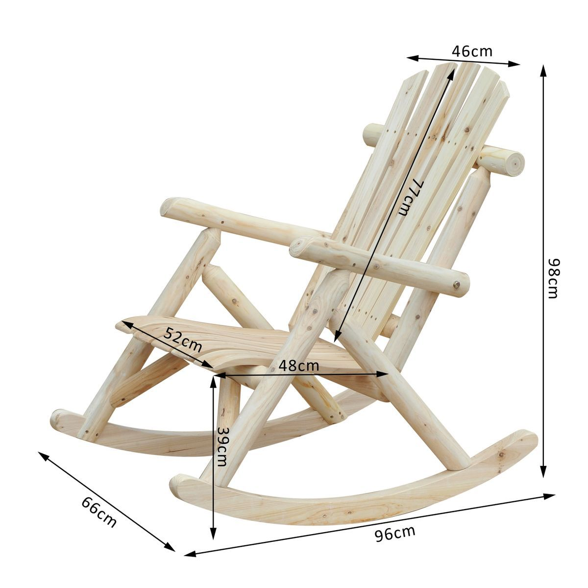 Fauteuil De Jardin Rocking Chair Bois De Pin Outsunny Kucuk Ahsap Projeleri Palet Sandalye Ahsap Projeleri