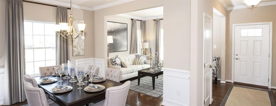 Living Room and Dining Room of the Milan – Model Home Living Rooms