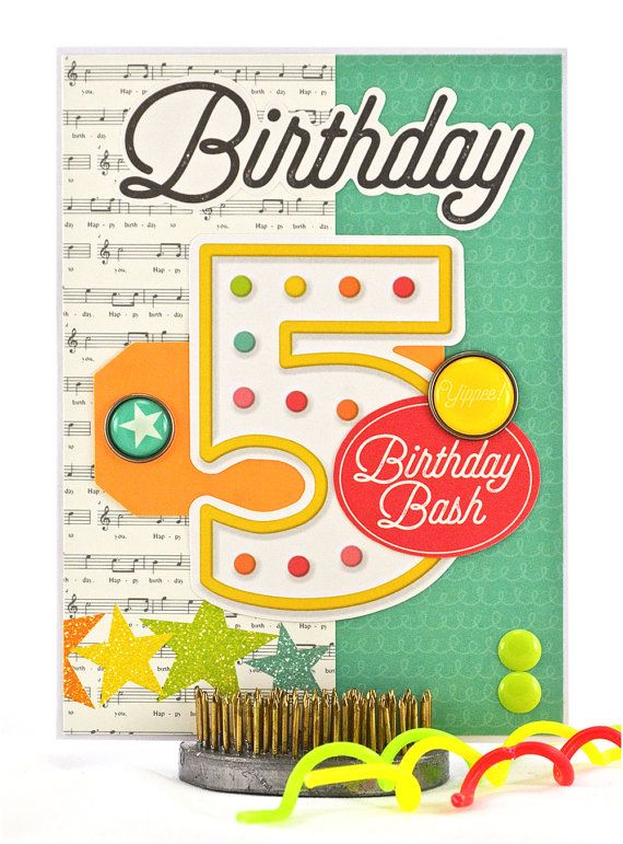 Choosing The Right Birthday Card For A 5 Year Old Is Easy When You Find Cute With Fifth Wishes On Front Thecardkiosk