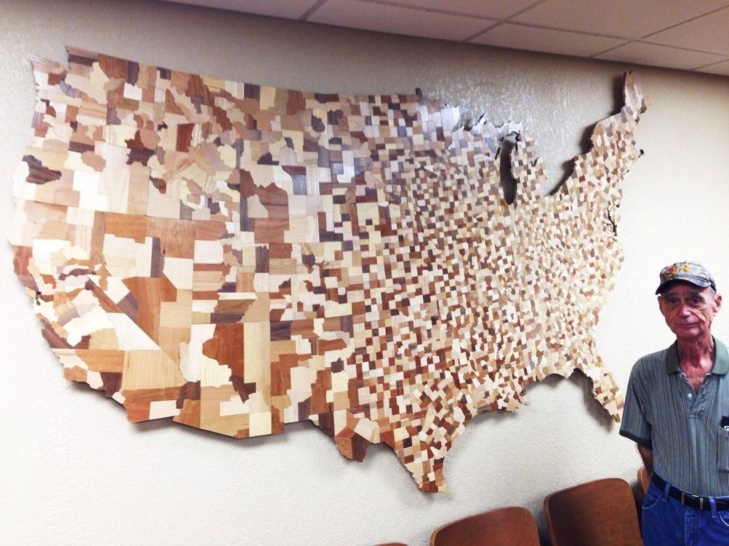 Map of all the counties of the Contiguous United States carved from over 3…