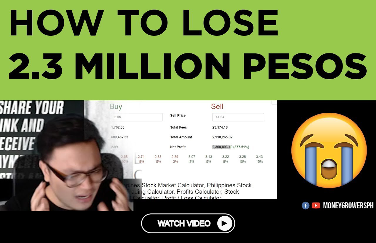 Stock Trading How To Lose 2 3 Million Pesos In Stocks Pse The