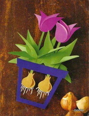 Handmade Kursy Wzory Tutoriale Ozdoby Z Papieru Szablony Flower Crafts Spring Crafts Handprint Crafts