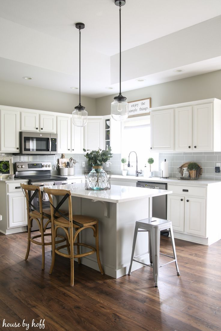 Our Laminate Floors Are Holding Up (Almost 2 Years Later Farmhouse Kitchen: How Our Laminate Floors Are Holding Up via House by HoffTalk To You Later