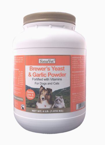 22 04 21 99 Naturvet Brewer S Yeast Garlic Powder 4 Pound Vitamin Enriched Powder Contains Top Quality Debittere With Images Vitamin C For Dogs Brewers Yeast Yeast
