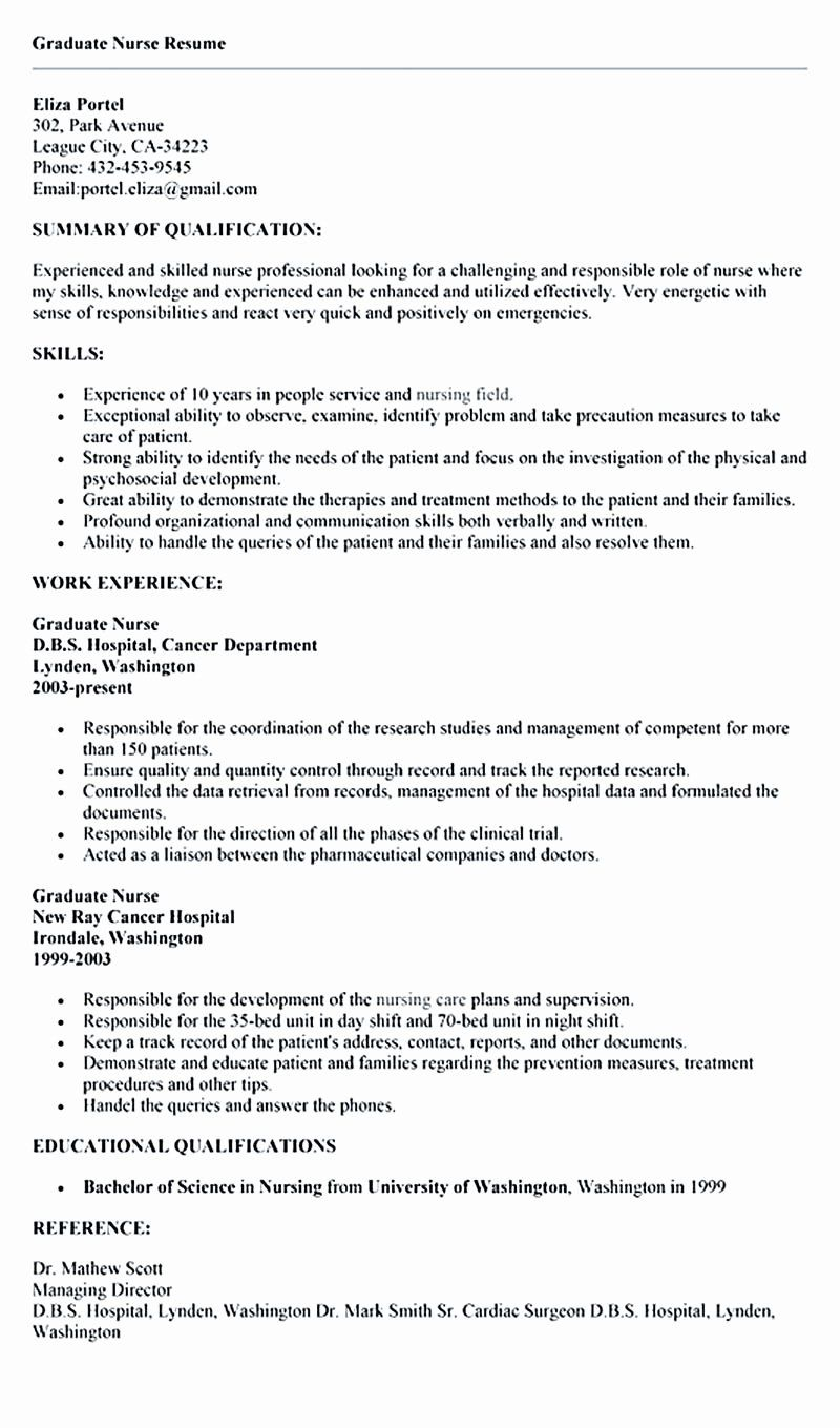 Emergency Room Nurse Resume New Nurse Resume Is What You Really Want When You Are Going To In 2020 Nursing Resume Template Nursing Resume Emergency Room Nurse