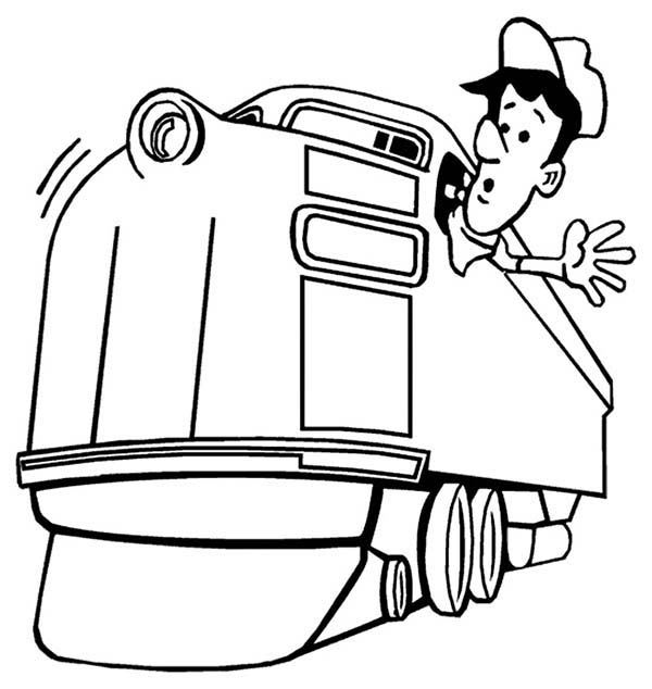 Train Engineer Looking For Railroad Coloring Page Color Luna Train Coloring Pages Precious Moments Coloring Pages Coloring Pages