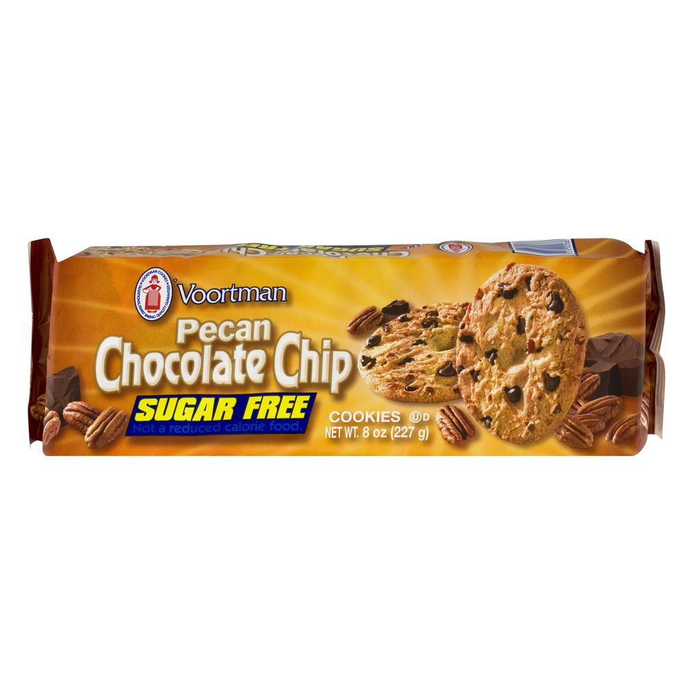 Voortman Sugar Free Pecan Chocolate Chip Cookies 8 Oz Walmart Com Chocolate Chip Pecan Cookies Chocolate Chip Cookies Sugar Free Chocolate Chips