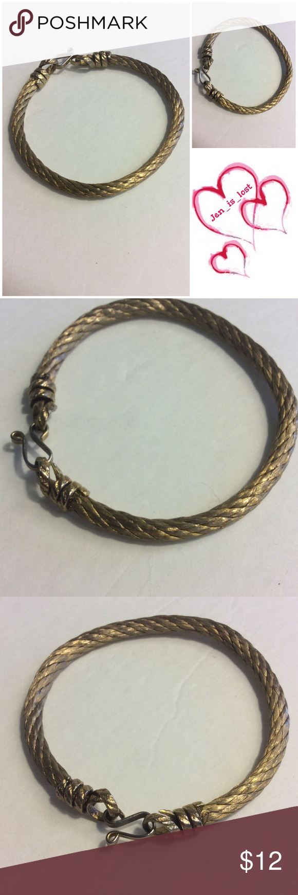 for sale gold tone rope bracelet beautiful goldtone rope