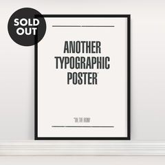 Another Typographic Poster - Anthony Oram