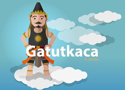 Jatmika Download Wayang Vector Gatutkaca Kartun Karikatur Art