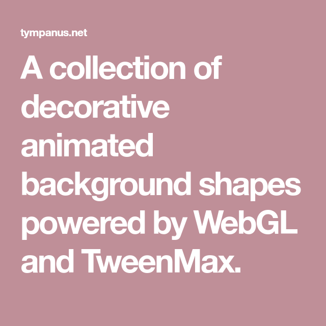 A collection of decorative animated background shapes