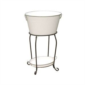 Mimosa White Entertainer Drink Tub w/ Tray & stand