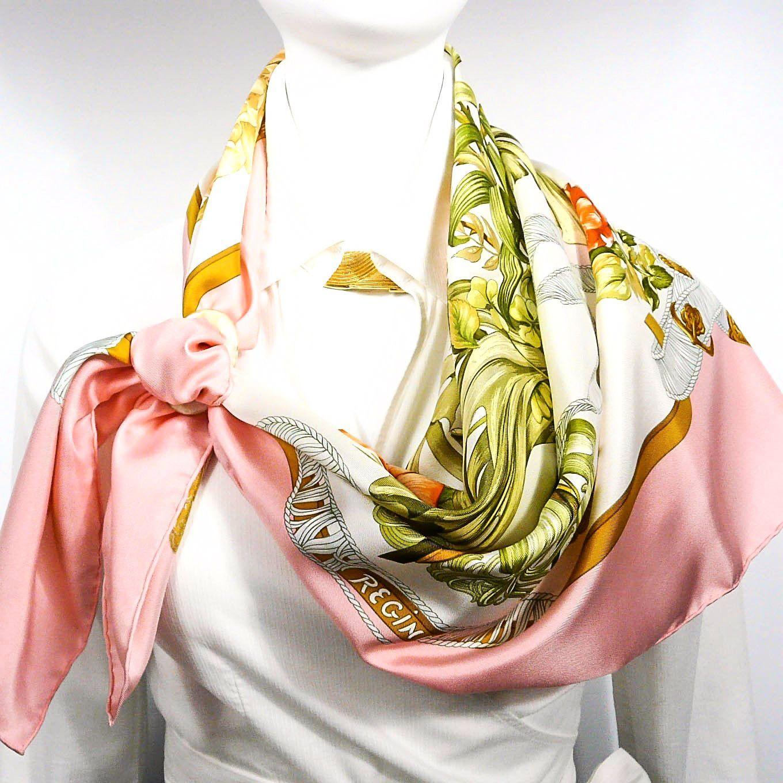 Regina HERMES Silk Scarf Early Issue w BOX   Hermès   Pinterest ... 259341df1d6