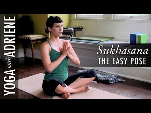 """learn sukhasana or """"easy pose"""" with adriene this basic"""